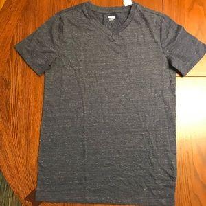 Old Navy heather blue v neck T-shirt BRAND NEW